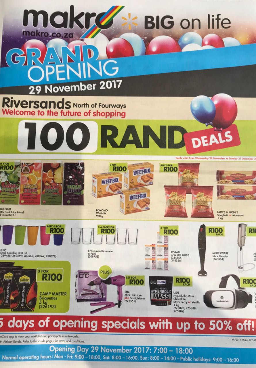 Grand Opening Makro Riversands South Africa Doublecool